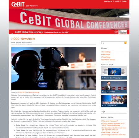 CeBIT - CGC Newsroom