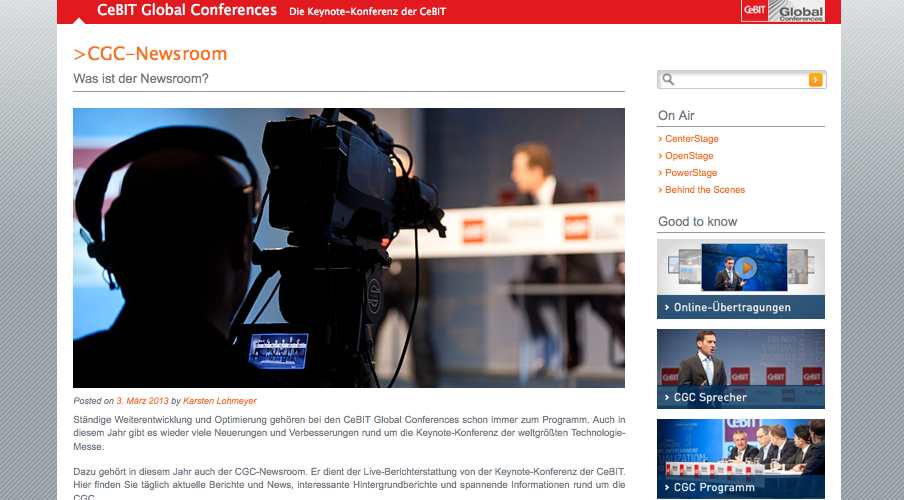 CeBIT - CGC Newsroom