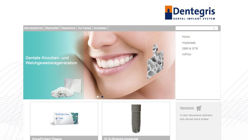 Online-Shop der Dentegris Deutschland GmbH - Implantate und Material zur Geweberegeneration ab sofort online bestellen!