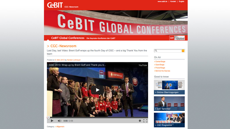 CeBIT CGC-Newsroom