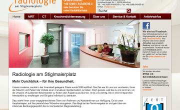 Website der Radiologie am Stiglmaierplatz, München