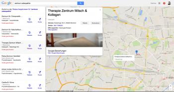 Weitere lokale Suchergebnisse und Detailansicht