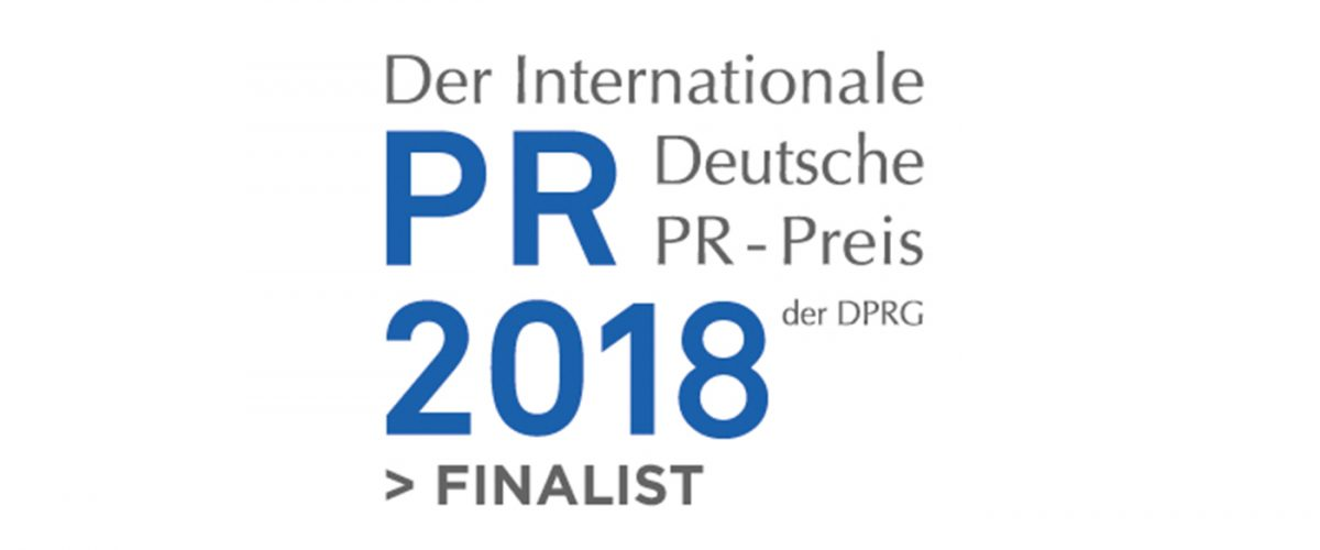Logo Finalist PR-Preis 2018 der DPRG