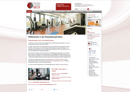 Website-Relaunch der Physiotherapie Beck, München