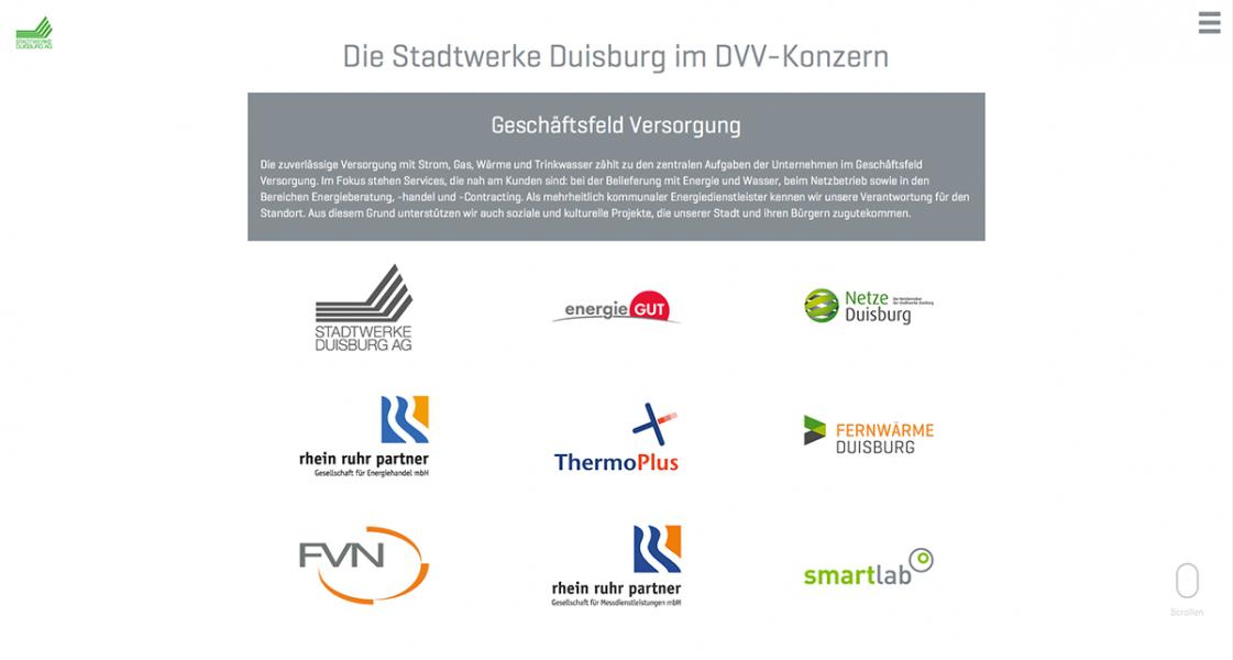Geschäftsbericht Stadtwerke Duisburg: Konzernstruktur