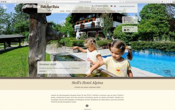 Stoll's Hotel Alpina - Wordpress Relaunch 2017 - Startseite – nordiek.net