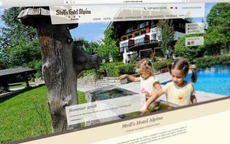Stoll's Hotel Alpina – Wordpress-Relaunch von nordiek.net