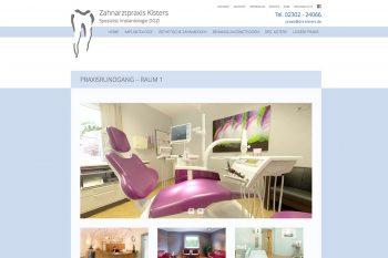 Website der zahnarztpraxis drs. Kisters 2017 – Praxisrundgang