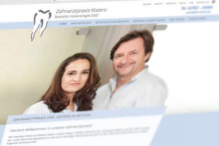Relauch der Website der z7ahnarztpraxis drs. Kisters, Witten